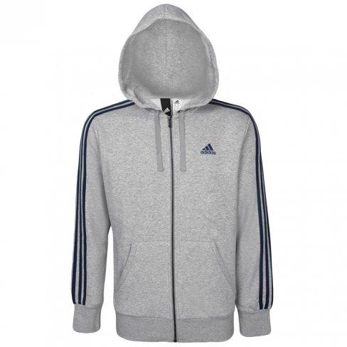 e37f188866 Jaqueta Adidas Masculina Essentials 3 Stripes S98788 - Mescla Azul ...