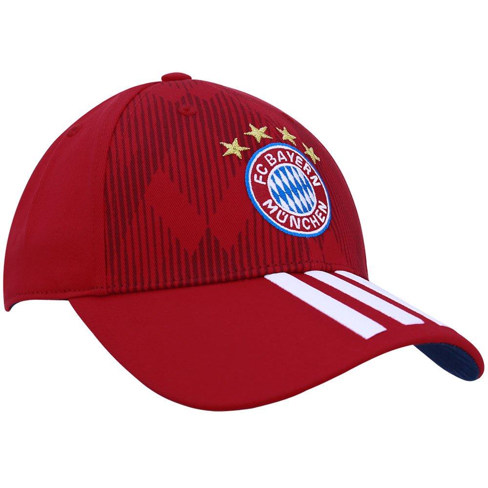 6629fef8271fa Boné Adidas Bayern 3S DI0244 - Vermelho Branco - Botoli Esportes ...