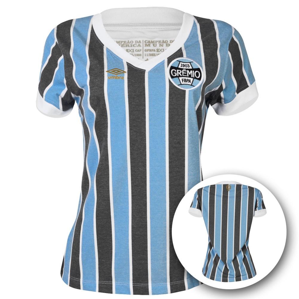 Camisa Umbro Feminina Grêmio Retrô 1983  fad5ac5b5e7ca