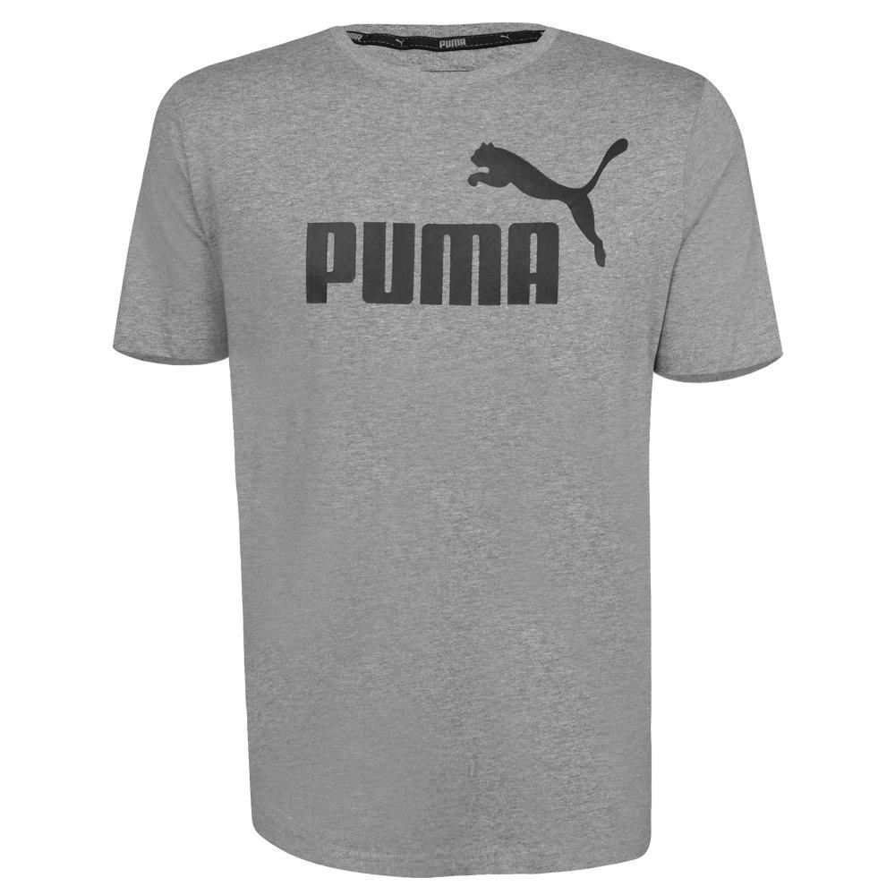 a50696ed520 Camiseta Puma Masculina Essentials Tee 851740-03 - Mescla Preto ...