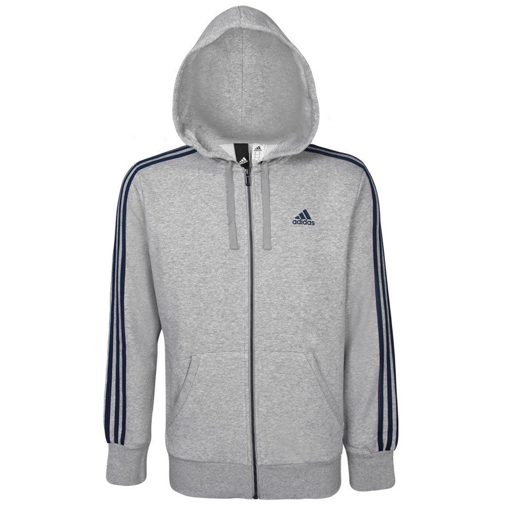 56f673c071c Jaqueta Adidas Masculina Essentials 3 Stripes S98788 - Mescla Azul ...