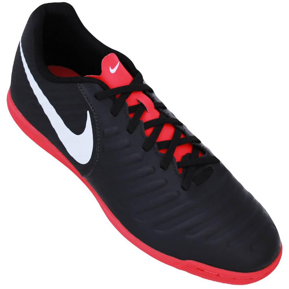 a3c2106df5a49 Tênis Nike Futsal Legend X 7 Club IC AH7245-006 - Preto/Vermelho ...