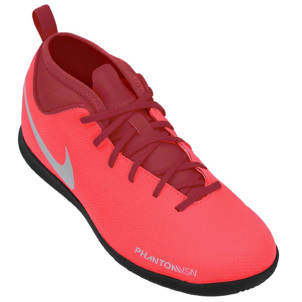 46db9b5742 Tênis Nike Futsal Phantom VSN Club DF IC Junior AO3293-600 - Coral ...